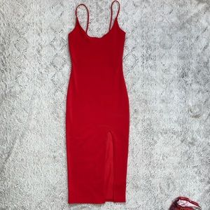 Red long cocktail dress size 0!